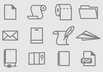 Paper Vector Icons - Free vector #152299