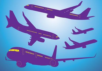 Airplanes Vectors - vector gratuit #152369