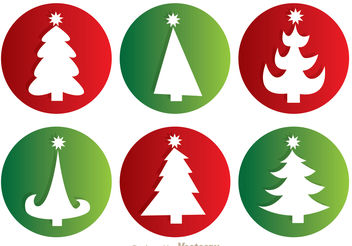 Christmas Tree Silhouette Vectors - Free vector #152579