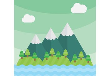 Mountain Vector Landscape - бесплатный vector #152589