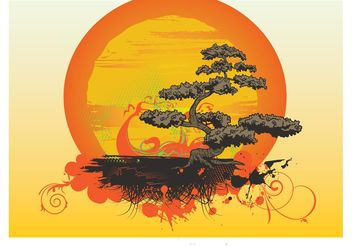 Bonsai Tree Vector - Free vector #152629