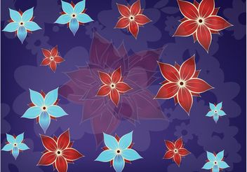 Cute Flowers Composition - Free vector #152639