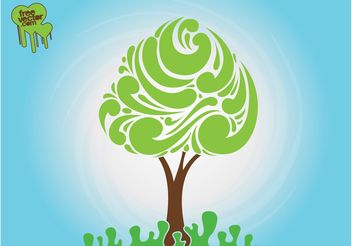 Abstract Tree Silhouette - Free vector #152679