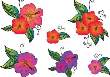 Free Vector Polynesian Flowers - Free vector #152709