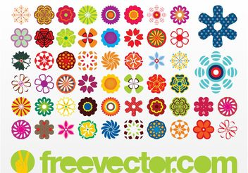 Vector Flowers Icons - vector gratuit #152719