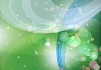 Abstract Green Sparkles Background - vector #152749 gratis