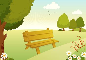 Free Vector Woodland Path Illustration - Free vector #152789