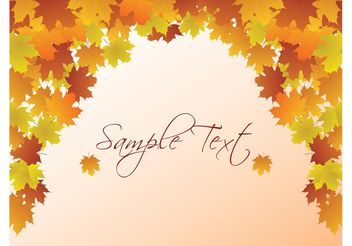 Autumn Vector Background - Kostenloses vector #152829