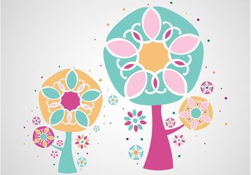 Tree Illustrations - vector gratuit #152839