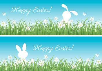 Free Easter Vector Banners - Kostenloses vector #152889