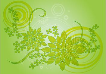 Green Flower Vector Design - Free vector #152929