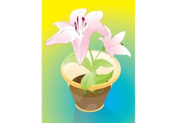Flowers Gift - Free vector #152949