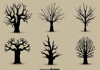 Tree Back Silhouettes - Kostenloses vector #152959
