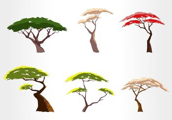 Free Acacia Tree Vector Set - бесплатный vector #152979