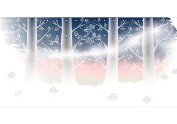 Winter Landscape Vector - Free vector #153039