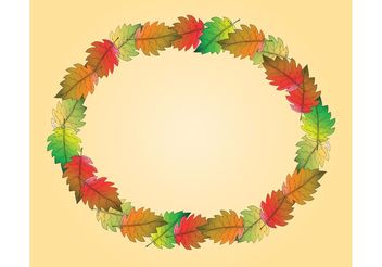 Free Fall Leaf Vector Frame - Kostenloses vector #153049