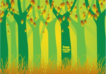 Autumn Forest Vector - Free vector #153099
