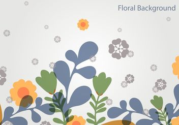 Simple Floral Vector Landscape - Free vector #153109