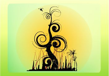 Fantasy Tree - vector gratuit #153119