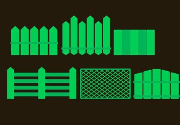 Green Picket Fence Vectors - vector gratuit #153189