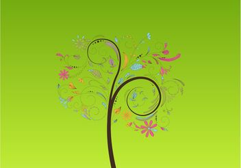 Dreamy Tree - vector gratuit #153209