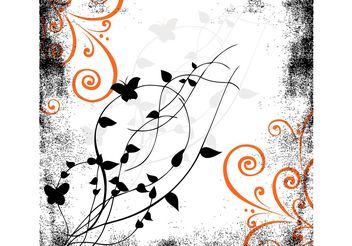 Decorative Nature Tile - Free vector #153259