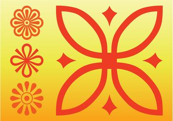 Flowers Icons Vector - vector gratuit #153299