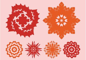 Flowers Icons Vectors - бесплатный vector #153309