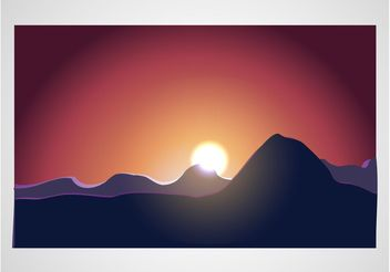 Sunrise Vector - Free vector #153339