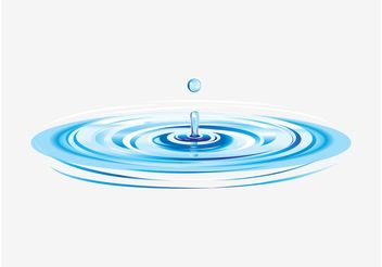 Water Ripples Vector - бесплатный vector #153399