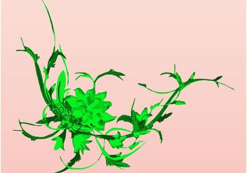 Green Plants Design - vector gratuit #153489