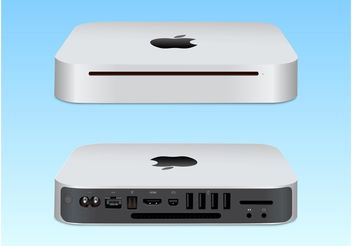 Mac Mini Vector Illustration - vector gratuit #153739
