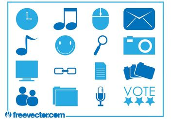Tech Icons Vectors - Free vector #153809