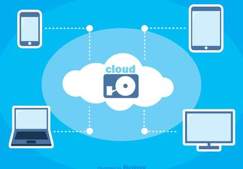 Cloud Computing Vector Background - vector gratuit #153829