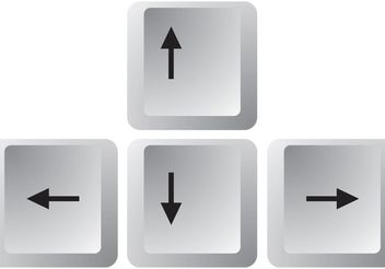 Arrow Keys Vectors - vector gratuit #153849