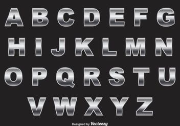 Chrome Alphabet Vector - Free vector #153869