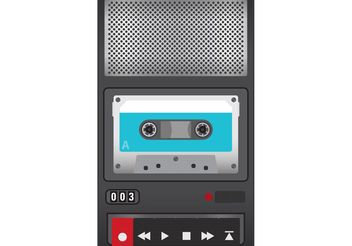 Tape Recorder Vector - Free vector #153889