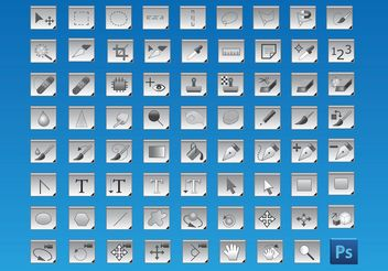 Free Photoshop Tools Icons - vector gratuit #153909