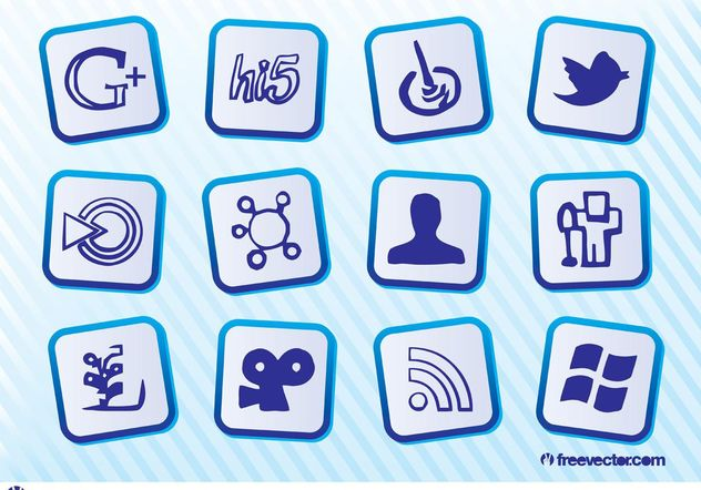 Free Social Media Icons - vector gratuit #153939