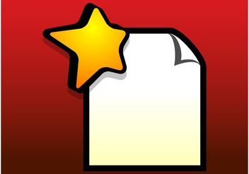 Star Document - vector gratuit #153959