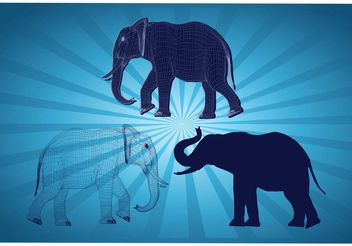 Elephant Graphics - vector gratuit #154119