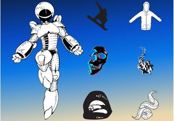 Robot Futuristic Pack - Free vector #154209