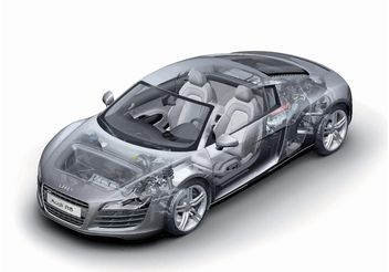 Audi R8 Technology - vector #154239 gratis