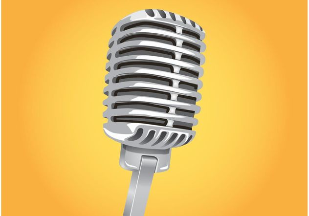 Classic Microphone Vector - Free vector #154249