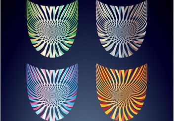 Abstract Badges - vector gratuit #154259