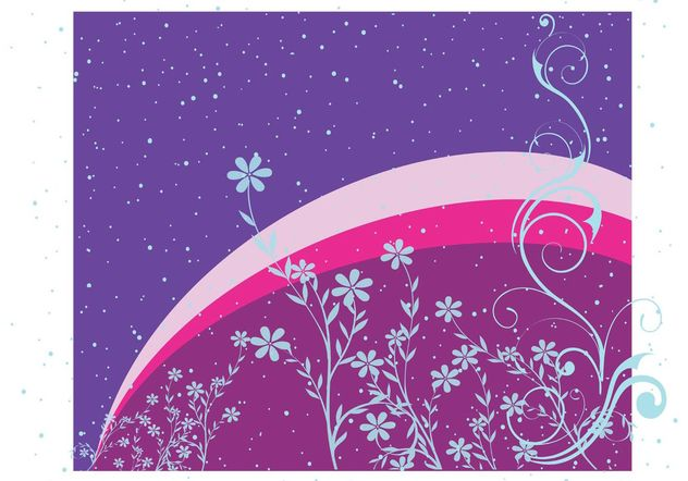 Blue Flowers Design Background - Free vector #154449