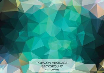Abstract Polygon Background Illustration - Free vector #154499