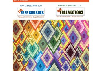 Geometric Shapes Vector Background - Free vector #154759