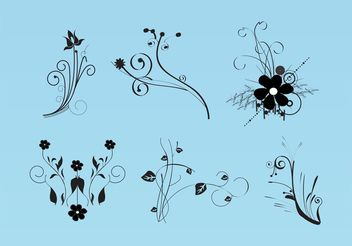 Beautiful Flowers Vector Images - vector gratuit #154769