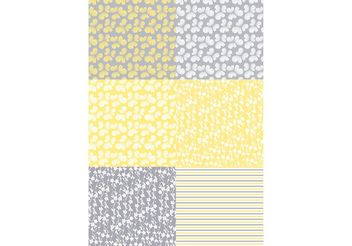 Yellow Flora Patterns - Kostenloses vector #154869